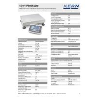 Kern IFB 15K2DM Industrial Dual-Range Platform Scales - Technical Specifications