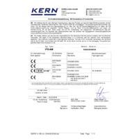 Kern IFB Industrial Dual-Range Platform Scales - EU Declaration of Conformity
