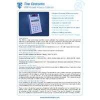 Time Electronics Portable Process Calibrator - Datasheet