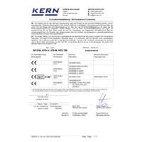 Kern IFS-M Industrial Dual-Range Counting Scales - EU Declaration of Conformity