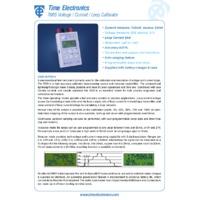 Time Electronics 7005 Voltage, Current & Loop Calibrator - Datasheet