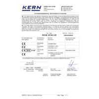 Kern IOC Industrial Platform Scales – Declaration of Conformity