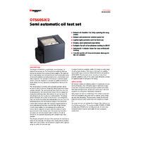 Megger OTS60SX-2 Semi-Automatic 60kV Oil Test Set - Datasheet