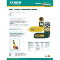 Extech 45118 Mini Thermo Anemometer - Datasheet
