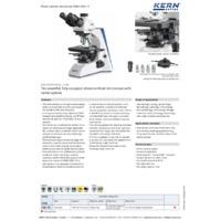 Kern OBN 158 Phase Contrast Microscope - Datasheet