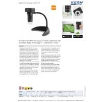 Kern ODC910 Digital WLAN Microscope - Datasheet