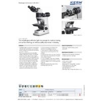 Kern OKM 173 Metallurgical Microscope - Datasheet