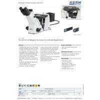 Kern OLM 171 Inverted Trinocular Metallurgical Microscope - Datasheet