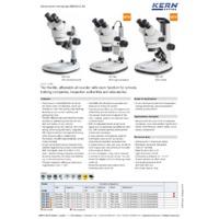 Kern OZL-46 Stereo Zoom Microscope - Datasheet