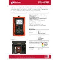 Monitran VM220 Portable Handheld Vibration Meter - Datasheet