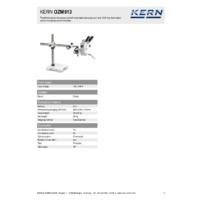 Kern OZM 913 Trinocular Stereo Microscope Set - Technical Specifications