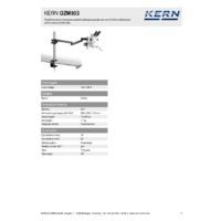 Kern OZM 953 Trinocular Stereo Microscope Set - Technical Specifications