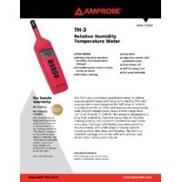 Amprobe TH-3 Relative Humidity and Temp Meter - Datasheet