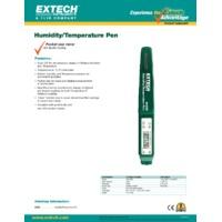 Extech 44550 Pocket Humidity/Temperature Pen - Datasheet