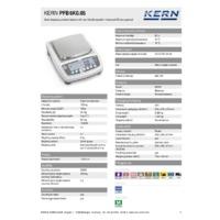Kern PFB 6K0.05 Quick Display Precision Balance - Technical Specifications