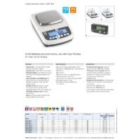 Kern PFB Quick Display Precision Balance - Datasheet