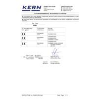 Kern PFB 6K0.05 Quick Display Precision Balance - Declaration of Conformity