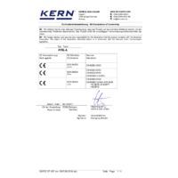 Kern PFB Quick Display Precision Balance - Declaration of Conformity