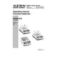 Kern PFB Quick Display Precision Balance - Operating Instructions
