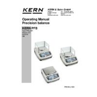 Kern PFB 6K0.05 Quick Display Precision Balance - Operating Instructions