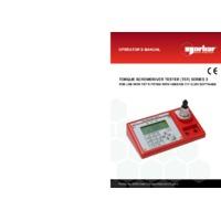 Norbar TST Screwdriver Testers - User Manual