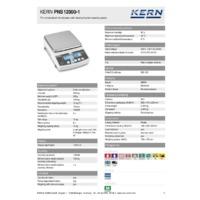 Kern PNS 12000-1 Precision Balances – Technical Specifiations