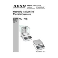Kern PNJ & PNS Precision Balances - Operating Instructions