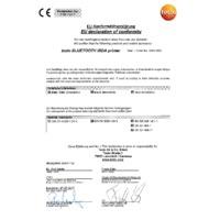 Testo 0554 0621 Bluetooth IRDA Printer - Declaration of Conformity