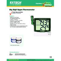 Extech 445715 Big Digit Hygro-Thermometer - Datasheet