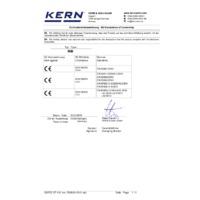 Kern RIB Price Computing Balances - Declaration of Conformity