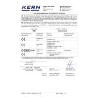 Kern RIB Price Computing Balances - RoHS Declaration of Conformity
