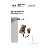 Sauter SO 200K Light Meter - Instruction Manual