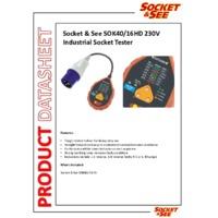 Socket & See SOK40 16HD 230V Industrial Socket Tester - Datasheet