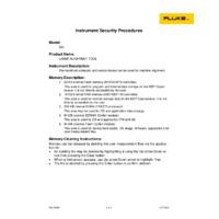 Fluke 830 Laser Shaft Alignment Tool - Instrument Security Procedures