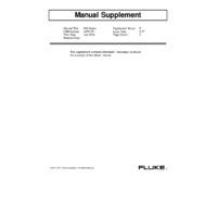 Fluke 830 Laser Shaft Alignment Tool - User Manual Supplement