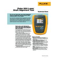 Fluke 830 Laser Shaft Alignment Tool - Datasheet