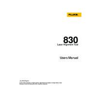 Fluke 830 Laser Shaft Alignment Tool -User Manual