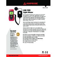 Amprobe LM-100 Light Meter - Datasheet