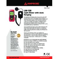 Amprobe LM-120 Light Meter - Datasheet