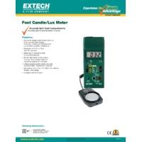 Extech 401025 Foot Candle/Lux Light Meter - Datasheet