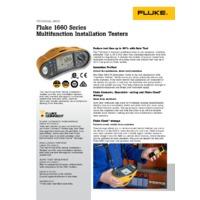 Fluke 1663 Multifunction Tester - Datasheet