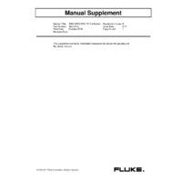 Fluke 1660 Series Multifunction Tester - Calibration Manual Supplement