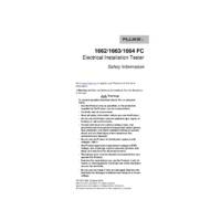 Fluke 1660 Series Multifunction Tester - Safety Information