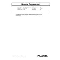 Fluke 1663 Multifunction Tester - User Manual Supplement