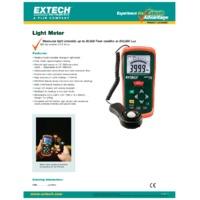 Extech LT300 Light Meter - Datasheet