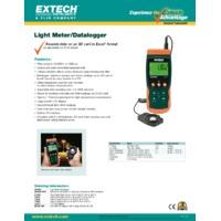 Extech SDL400 Light Meter/Datalogger - Datasheet