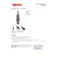 Norbar TTs53 Adjustable Torque Screwdriver - Product Specifications
