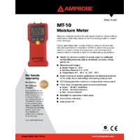 Amprobe MT-10 Log Moisture Meter - Datasheet