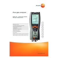 Testo 327- Flue Gas Analyser Datasheet