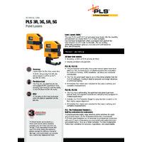 PLS Laser Levels - Datasheet